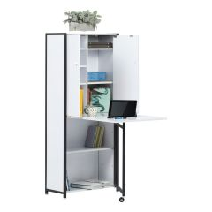 Craft Armoire with Fold Out Table Charcoal-White Sewing Online 13379