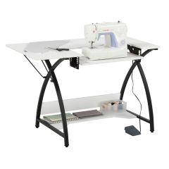 Comet Sewing Table 45.5 x 23.5 x 30in Black/White Sew Ready 13332