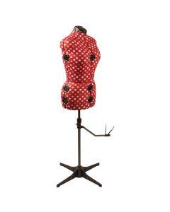 Adjustable Dressmaking Dummy  - Red Polka Dot - Available in 2 Sizes | Sew Stylish