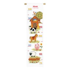 Counted Cross Stitch: Height Chart: At The Farm II