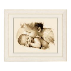 Counted Cross Stitch Kit: Brotherly Love