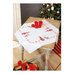 Embroidery Tablecloth: Christmas Elves