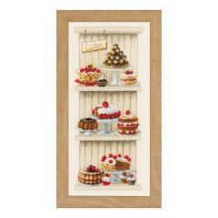 Counted Cross Stitch Kit: Delicious Cakes