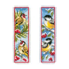 Counted Cross Stitch Bookmark: Birds in Winter (Set of 2)