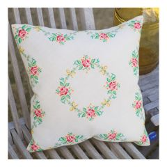 Counted Cross Stitch Cushion: Garland and Roses