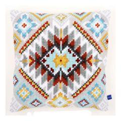 Cross Stitch Cushion: Cushion: Ethnic