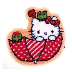 Latch Hook Rug: Hello Kitty: In the Umbrella