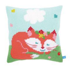 Cross Stitch Cushion: Lief! Sleeping Fox