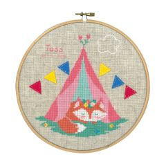 Counted Cross Stitch Kit: Lief! Small Fox in Tent