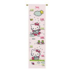 Counted Cross Stitch Height Chart: Hello Kitty: Rainy days