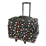Polka Dot Sewing Machine Trolley Bag Black/multi
