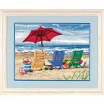 Beach Chair Trio Needlepoint/Tapestry Kit