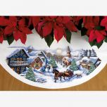 Sleigh Ride Tree Skirt Christmas Cross Stitch Kit