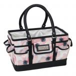 Everything Mary 12392-5 White & Floral Deluxe Store & Tote Caddy, Desk Space Craft Organiser