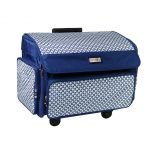 Everything Mary 12739-4 360┬░ Rolling Sewing Case, 4 Wheeled Overlocker or Sewing Machine Trolley Bag