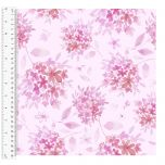 Cotton Craft Fabric 110cm wide x 1m | Love Always Tonal Floral | 13822-LTPINK