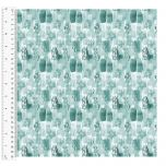 Cotton Craft Fabric 110cm wide x 1m | Love Always Block Tonal | 13825-TEAL