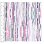 Cotton Craft Fabric 110cm wide x 1m | Love Always Stick Stripe | 13827-WHITE