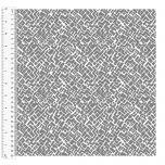 Cotton Craft Fabric 110cm wide x 1m - Basics Grid - Grey - 14956-GRAY