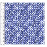 Cotton Craft Fabric 110cm wide x 1m - Basics Lattice - Royal - 14957-ROYAL