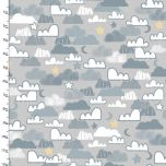 Cotton Craft Fabric 110cm x 1m Little Lion Collection - Night Sky