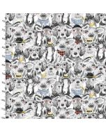 Cotton Craft Fabric 110cm wide x 1m Fancy Farm Collection - Group Picture
