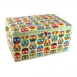 Owl Printed Large Sewing Basket 38 x 25 x 20cm | Sewing Online FL-011