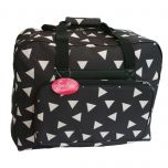 Sewing Machine Bag Black with White Triangles | Sew Easy MR4660.013/600D