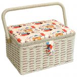 Notions Sewing Basket Orange/Multi 26.5 x 19 x 15cm | Sewing Online FM-005