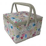 Sewing Notions Large Twin Lid Sewing Box 25 x 25 x 17cm MRLTLE-120