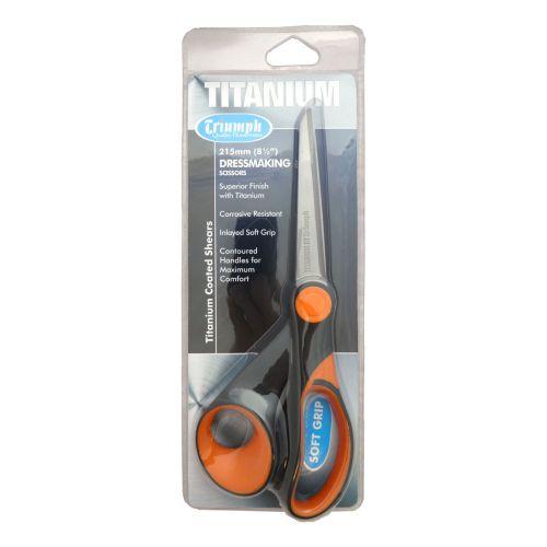 Titanium Dressmaking Scissors 215mm Orange/Black | Triumph BT4824