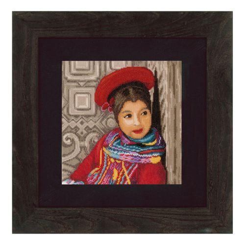 Counted Cross Stitch Kit: Peruvian Girl (Aida)
