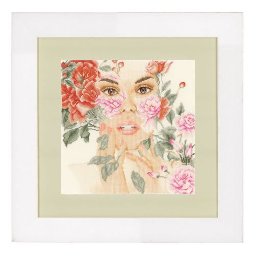 Counted Cross Stitch Kit: Flower Face (Aida)