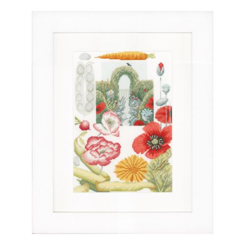 Lanarte PN-0149992 Vegetable Garden Aida Counted Cross Stitch Kit