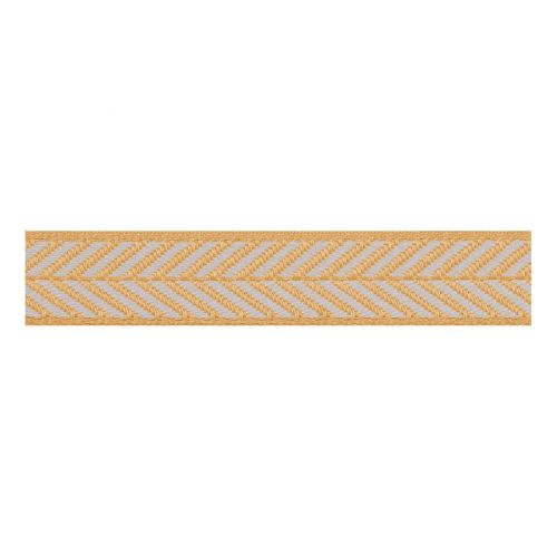 Berisfords 25mm Herringbone Patterned Ribbon (15m spool)