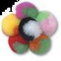 Assorted 7mm Pom Poms In Bulk