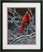 Ice Cardinal Counted Cross Stitch Kit