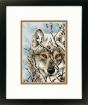 Gold Petite Counted Cross Stitch Wolf