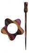 Symfonie Wood Lilac Shawl Pins With Stick :: Garnet