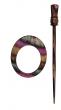 Symfonie Wood Lilac Shawl Pins With Stick :: Omega