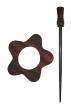 Symfonie Wood Rose Shawl Pins With Stick :: Garnet