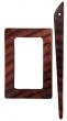 Symfonie Wood Rose Shawl Pins With Stick :: Castor