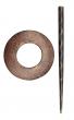 Symfonie Wood Exotica Series Shawl Pins With Stick :: Hazel (KP005)