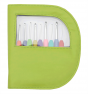 Waves Set Of Colorful 9 Crochet Hooks :: Green