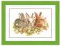 Counted Cross Stitch Kit Three Rabbits